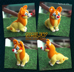 Smiley - Needle Felted Figure Commission by Feyrah