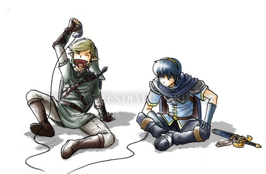 Link and Marth play SSBM by louten