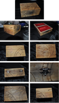 Wooden box with poker work by Hebidoku