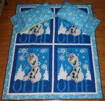 Olaf Double Size Quilt by quiltoni