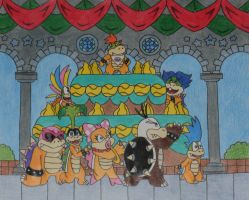 Mario World Koopalings by yodana