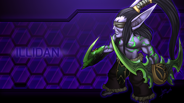 Illidan by Leto4rt