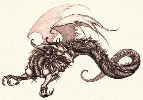 DC Concept Dragon 1 by Chernobylpets
