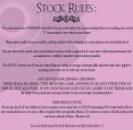 My Stock Rules by LavitaDistress