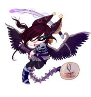 [ L-A ] Kaine Chibi by NightmareInspections
