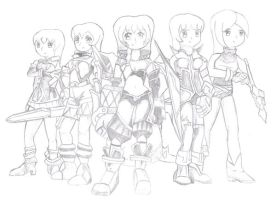 Flyff Characters female by gscorpion