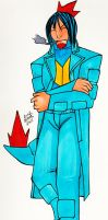 Louis the Feraligatr Gijinka by CyberMisadventures