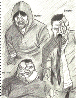Left 4 Dead: Sketches by Cageyshick05