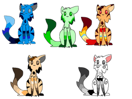 Free cat adoptables 4  (CLOSED) by FireBurstCat