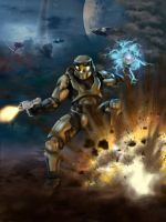 Halo: Combat Evolved Fan Art by Geocross