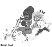 chibi kiki attack by DemonRoyal