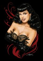 Bettie Page by AlexBuechel