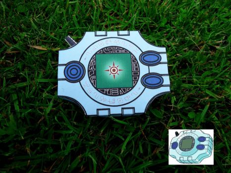 [Digimon] Digivice - Courage - Papercraft by Mixowelle