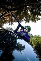 Dark Knight Joker cosplay by KimMazyck
