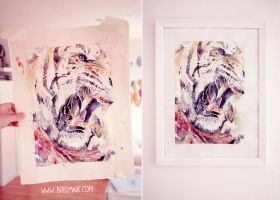 Watercolor Tiger by Bobsmade