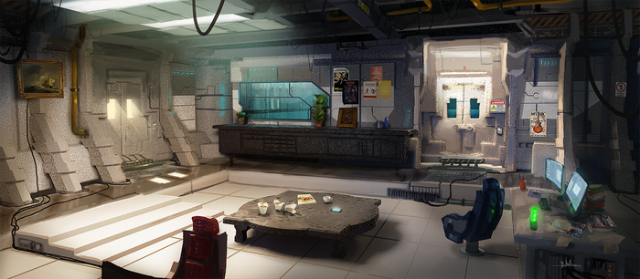 Sci fi interior concept final by MaxiimusT