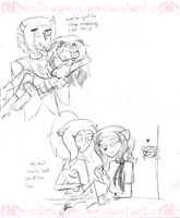 MH: Crackship Sketches by KPenDragon