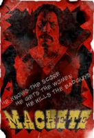 Machete GRINDHOUSE poster by kcsnipes