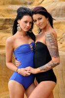 Tara and Justine - blue and black 1 by wildplaces