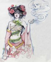 Geisha Ghost Girl by bluealaris