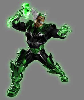 Green Lantern Beta Ray Bill by Lord-Lycan
