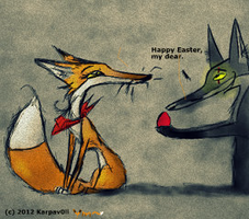Happy Easter by karpfinchen