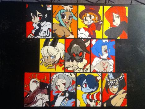 Skullgirls paintings by TheScarecrowOfNorway