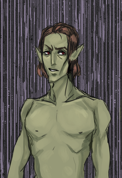 shirtless elves by Crowes-Hammer