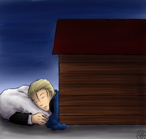 In the Dog House - Hetalia by TriaElf9