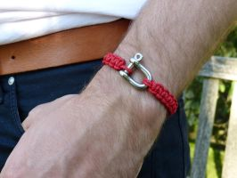 Survival Bracelet in Red by Lady-Kiwi