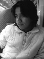 Victor on the Train by oleanderchardonai