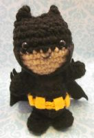 Wee Little Batman Amigurumi Crochet Doll by Spudsstitches