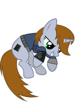 Littlepip  jumped by aborrozakale