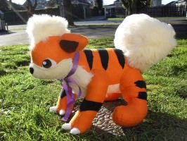 Growlithe Plushie by channellehazel