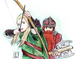 The Lord of the Rings - Legolas Gimli by Keylhen