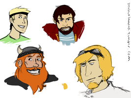Yogscast Doodles by kitkaters