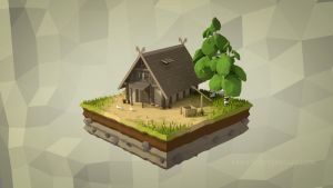 Low Poly Isometric House by Kaiguu