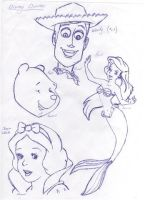 disney characters by SunshineRachael