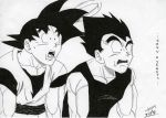 Dragon Ball - Goku and Vegeta by LadyGrell93