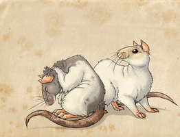 My ratty rats by GasMaskMonster