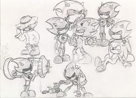 Metal Sonic Doodles xP by Mickeymonster
