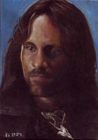Aragorn card 265 by charles-hall