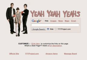 Yeah Yeah Yeahs Startpage by AwesomeStart