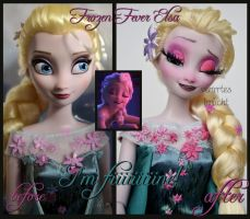 repainted ooak frozen fever sick elsa doll. by verirrtesIrrlicht