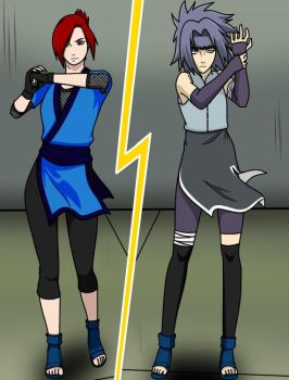 I'm ready to fight! Mizuki V.S. Aisu by The-Outcast1