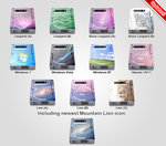 12 HDD icons for windows 7 by LazyLaza