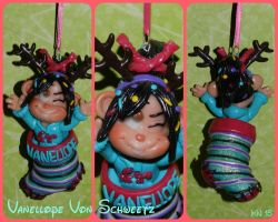 Vanellope Christmas Ornament by disneykittyart