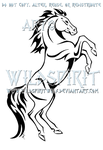 Rearing Horse Tribal Design by WildSpiritWolf