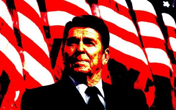 Ronald 'Let's not Talk about Cambodia' Reagan by Ascendaeus