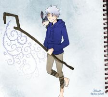 Jack frost and Bunnymund 18 by saeru-bleuts